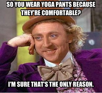 Yoga Pants Wonka