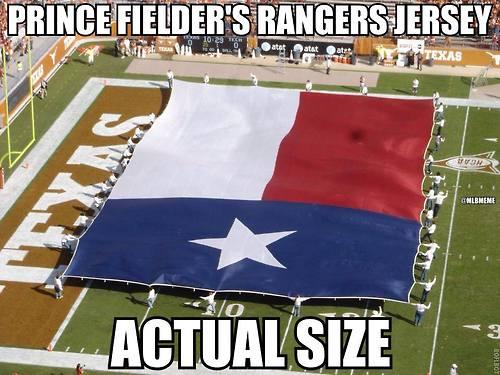 Prince Fielder Texas jersey