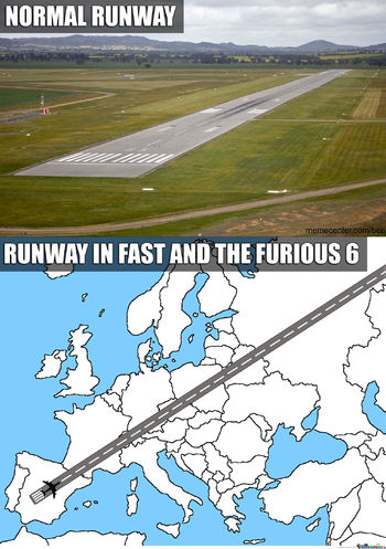 fast and furious 6 runway meme