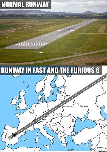 fast and furious 6 runway meme