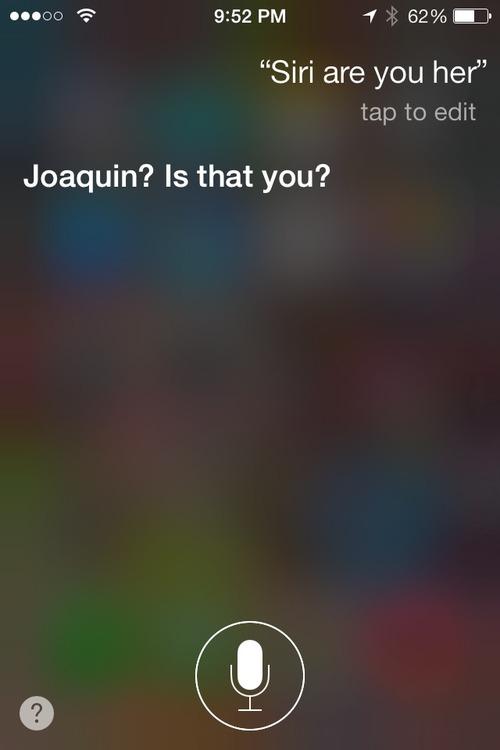 Her - Siri response