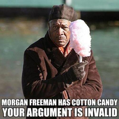 morgan freeman cotton candy