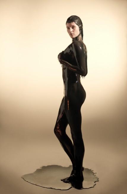 Gemma Arterton oil standing