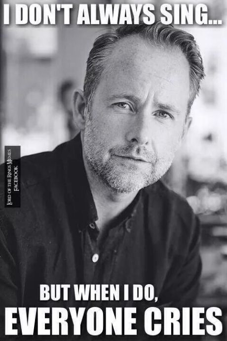 Billy Boyd sings
