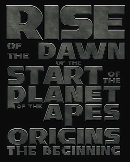 of the Apes of the