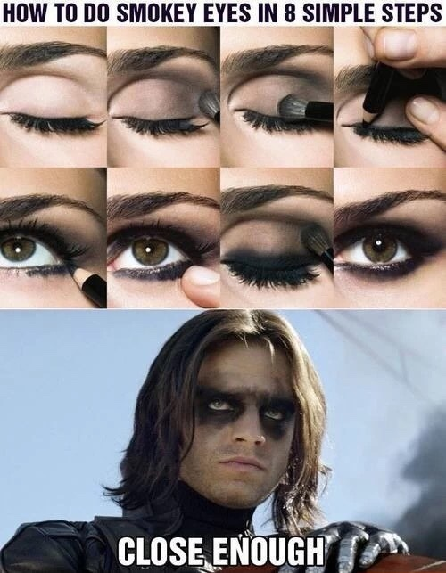 Winter Soldier makeup