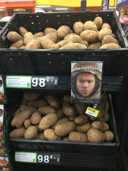 Martian potatoes